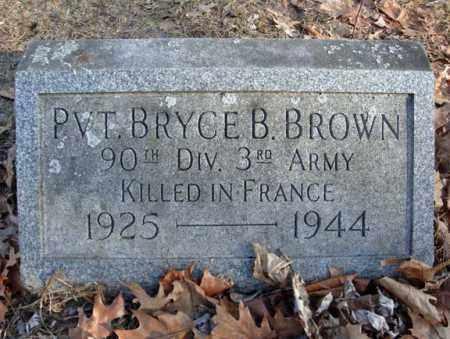 BROWN, BRYCE B - Schenectady County, New York | BRYCE B BROWN - New York Gravestone Photos