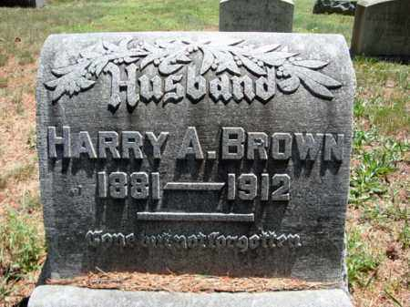 BROWN, HARRY A - Schenectady County, New York | HARRY A BROWN - New York Gravestone Photos