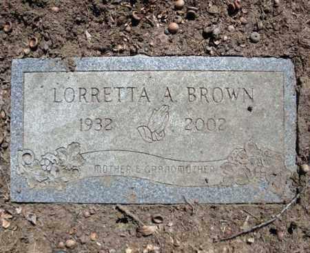 BROWN, LORRETTA A - Schenectady County, New York | LORRETTA A BROWN - New York Gravestone Photos