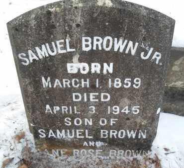 BROWN, SAMUEL, JR - Schenectady County, New York | SAMUEL, JR BROWN - New York Gravestone Photos