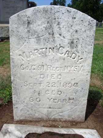 CADY (CW), MARTIN - Schenectady County, New York | MARTIN CADY (CW) - New York Gravestone Photos