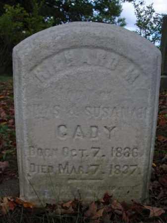 CADY, RICHARD M - Schenectady County, New York | RICHARD M CADY - New York Gravestone Photos