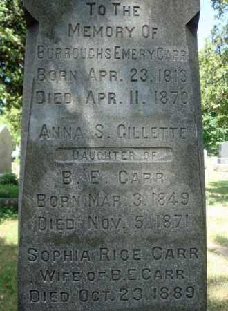 RICE CARR, SOPHIA - Schenectady County, New York | SOPHIA RICE CARR - New York Gravestone Photos