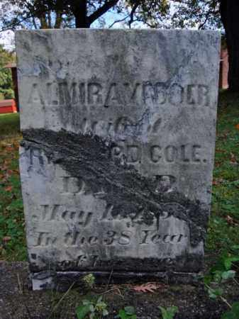 VEDDER COLE, ALMIRA - Schenectady County, New York | ALMIRA VEDDER COLE - New York Gravestone Photos