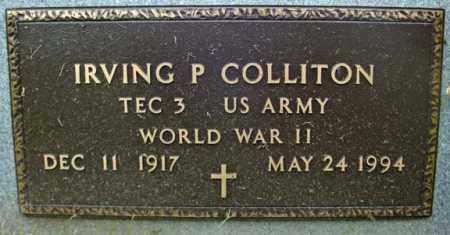 COLLITON, IRVING P - Schenectady County, New York | IRVING P COLLITON - New York Gravestone Photos