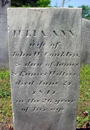 WILLSEE, JULIA ANN - Schenectady County, New York | JULIA ANN WILLSEE - New York Gravestone Photos