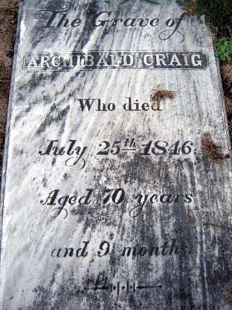 CRAIG, ARCHIBALD - Schenectady County, New York | ARCHIBALD CRAIG - New York Gravestone Photos