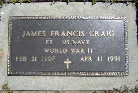 CRAIG, JAMES FRANCIS - Schenectady County, New York   JAMES FRANCIS CRAIG - New York Gravestone Photos