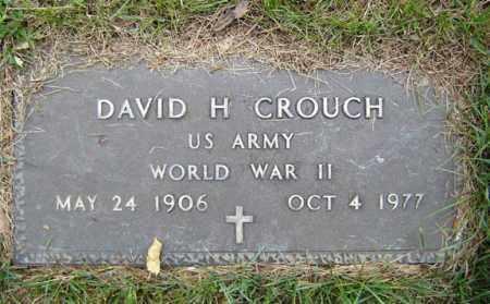 CROUCH, DAVID H - Schenectady County, New York | DAVID H CROUCH - New York Gravestone Photos