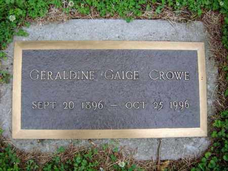 CROWE, GERALDINE - Schenectady County, New York | GERALDINE CROWE - New York Gravestone Photos