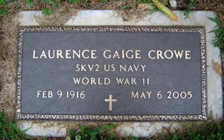 CROWE ((WWII), LAURENCE GAIGE - Schenectady County, New York | LAURENCE GAIGE CROWE ((WWII) - New York Gravestone Photos