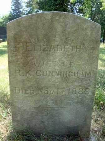 CUNNINGHAM, ELIZABETH - Schenectady County, New York | ELIZABETH CUNNINGHAM - New York Gravestone Photos