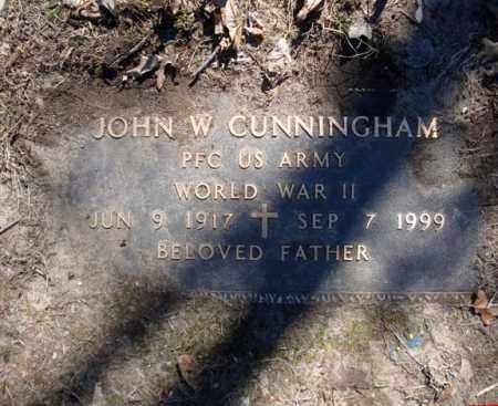 CUNNINGHAM (WWII), JOHN W - Schenectady County, New York | JOHN W CUNNINGHAM (WWII) - New York Gravestone Photos