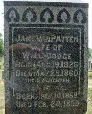 VAN PATTEN DODGE, JANE - Schenectady County, New York | JANE VAN PATTEN DODGE - New York Gravestone Photos
