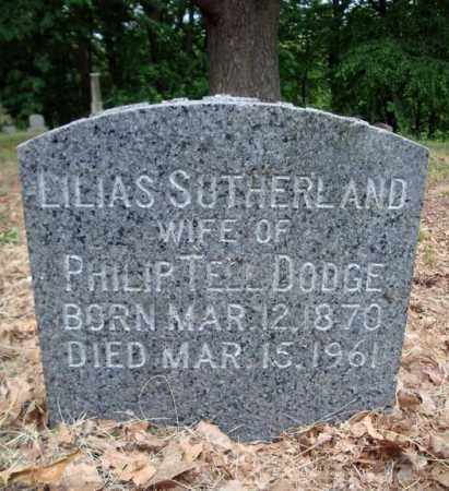 SUTHERLAND DODGE, LILIAS - Schenectady County, New York | LILIAS SUTHERLAND DODGE - New York Gravestone Photos
