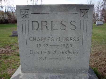 DRESS, BERTHA A - Schenectady County, New York | BERTHA A DRESS - New York Gravestone Photos