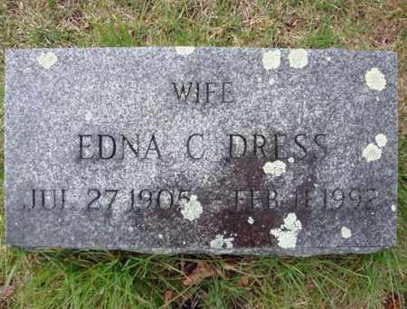 DRESS, EDNA C - Schenectady County, New York | EDNA C DRESS - New York Gravestone Photos