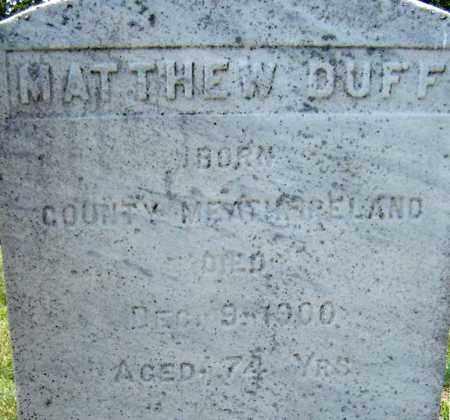 DUFF, MATTHEW - Schenectady County, New York | MATTHEW DUFF - New York Gravestone Photos