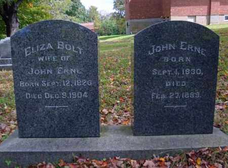 BOLT ERNE, ELIZA - Schenectady County, New York | ELIZA BOLT ERNE - New York Gravestone Photos