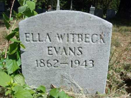 WITBECK EVANS, ELLA - Schenectady County, New York | ELLA WITBECK EVANS - New York Gravestone Photos