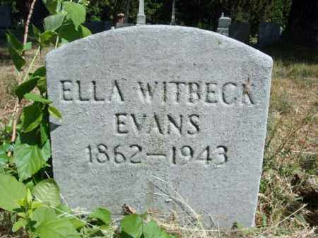 EVANS, ELLA - Schenectady County, New York | ELLA EVANS - New York Gravestone Photos
