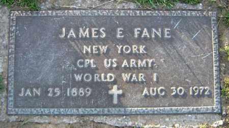 FANE, JAMES E - Schenectady County, New York   JAMES E FANE - New York Gravestone Photos
