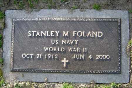 FOLAND (WWII), STANLEY M - Schenectady County, New York | STANLEY M FOLAND (WWII) - New York Gravestone Photos