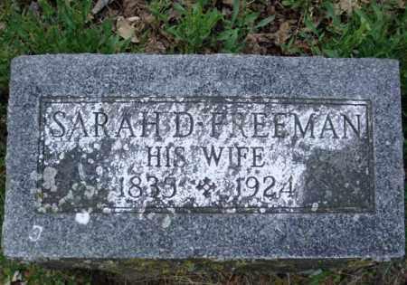 FREEMAN, SARAH D - Schenectady County, New York   SARAH D FREEMAN - New York Gravestone Photos