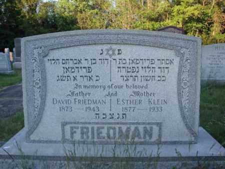KLEIN FRIEDMAN, ESTHER - Schenectady County, New York   ESTHER KLEIN FRIEDMAN - New York Gravestone Photos
