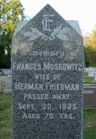 MOSKOWITZ, FRANCES - Schenectady County, New York | FRANCES MOSKOWITZ - New York Gravestone Photos