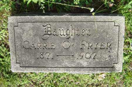 FRYER, CARRIE O - Schenectady County, New York | CARRIE O FRYER - New York Gravestone Photos