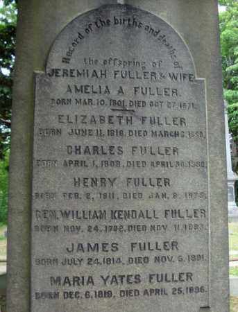 FULLER, CHARLES - Schenectady County, New York | CHARLES FULLER - New York Gravestone Photos