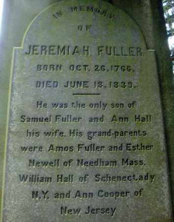 FULLER, JEREMIAH - Schenectady County, New York | JEREMIAH FULLER - New York Gravestone Photos