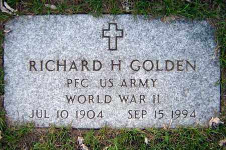 GOLDEN, RICHARD H - Schenectady County, New York | RICHARD H GOLDEN - New York Gravestone Photos