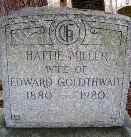 MILLER, HATTIE - Schenectady County, New York | HATTIE MILLER - New York Gravestone Photos
