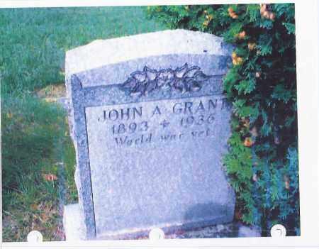 GRANT, JOHN A - Schenectady County, New York   JOHN A GRANT - New York Gravestone Photos