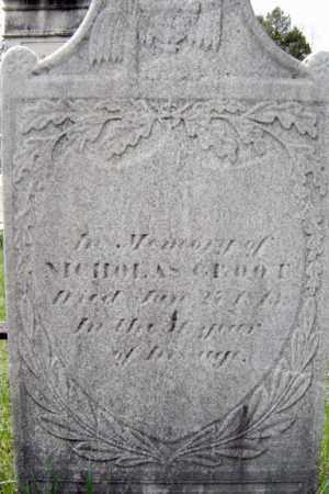 GROOT, NICHOLAS - Schenectady County, New York | NICHOLAS GROOT - New York Gravestone Photos