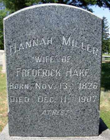 MILLER, HANNAH - Schenectady County, New York | HANNAH MILLER - New York Gravestone Photos