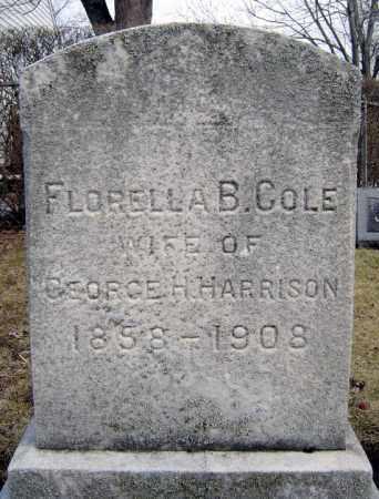 COLE, FLORELLA B - Schenectady County, New York | FLORELLA B COLE - New York Gravestone Photos