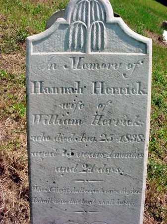 HERRICK, HANNAH - Schenectady County, New York | HANNAH HERRICK - New York Gravestone Photos