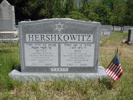 HERSHKOWITZ, BETTY - Schenectady County, New York   BETTY HERSHKOWITZ - New York Gravestone Photos