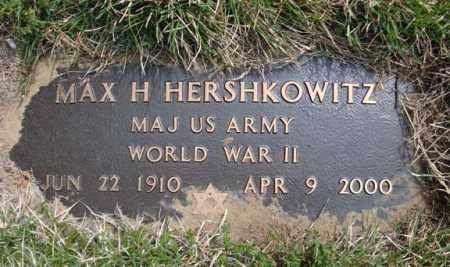 HERSHKOWITZ (WWII), MAX H - Schenectady County, New York | MAX H HERSHKOWITZ (WWII) - New York Gravestone Photos