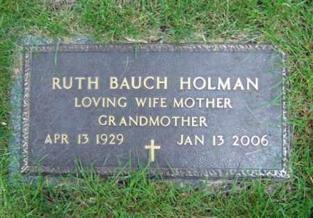 BAUCH HOLMAN, RUTH - Schenectady County, New York | RUTH BAUCH HOLMAN - New York Gravestone Photos