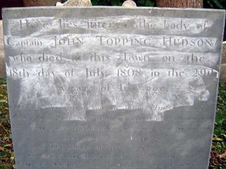 HUDSON, JOHN TOPPING - Schenectady County, New York | JOHN TOPPING HUDSON - New York Gravestone Photos