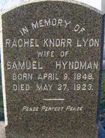 HYNDMAN, RACHEL KNORR - Schenectady County, New York | RACHEL KNORR HYNDMAN - New York Gravestone Photos
