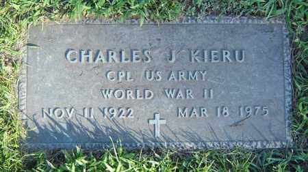KIERU, CHARLES J - Schenectady County, New York | CHARLES J KIERU - New York Gravestone Photos