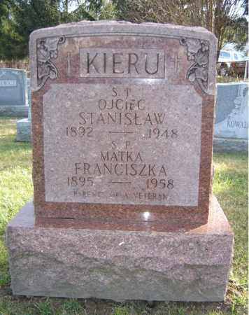KIERU, FRANCISZKA - Schenectady County, New York   FRANCISZKA KIERU - New York Gravestone Photos