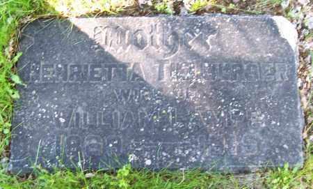 TIELBURGER, HENRIETTA - Schenectady County, New York | HENRIETTA TIELBURGER - New York Gravestone Photos