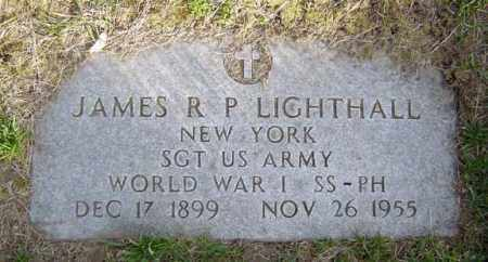 LIGHTHALL, JAMES R P - Schenectady County, New York | JAMES R P LIGHTHALL - New York Gravestone Photos