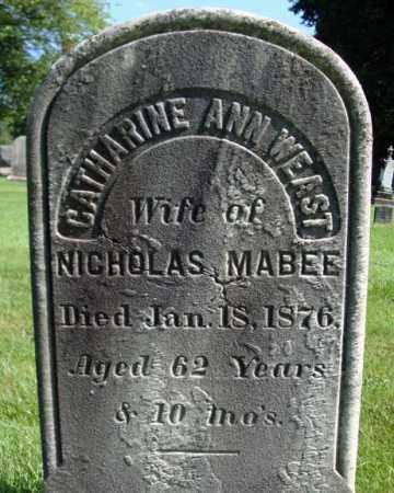 WEAST, CATHARINE ANN - Schenectady County, New York | CATHARINE ANN WEAST - New York Gravestone Photos